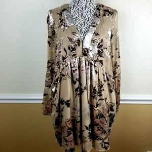 Free People Boho Floral Tunic Dress Sz S